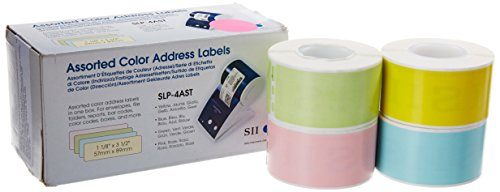 (Seiko Instruments Assorted Color Labels for Smart Label Printers (SLP-4AST))