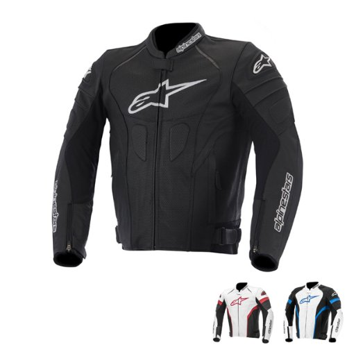 Alpinestars GP Plus R Mens Leather Jacket Black/White 52 EUR/42 USA