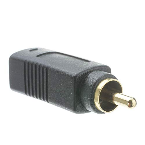 GOWOS S Video to RCA Adapter, S-Video (MiniDin4) Female to RCA Male, Gold Connectors
