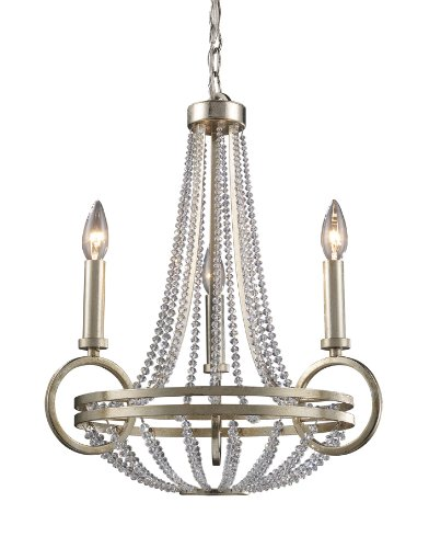 Chandelier Art Deco Elk (TRUMP HOME 31013/3 Elk New York 3-Light Chandelier, Renaissance Silver)