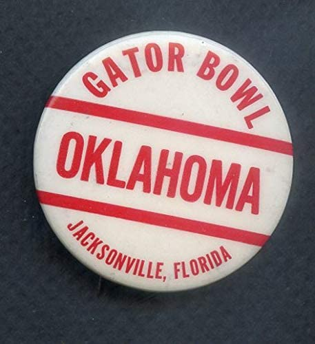 Vintage Gator Bowl Oklahoma Sooners Booster Button 365694 Kit Young Cards
