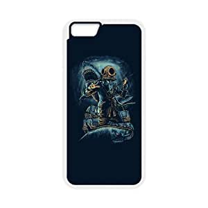 iPhone 6 Plus 5.5 Inch Cell Phone Case White underwater business JPD Back 13D Case