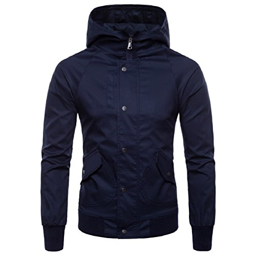 Jacket Howme Size Fit Regular Premium Britain AS4 Hood Men's Windproof Plus Zipper vwqBFrv
