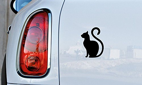 Cat Silhouette Cartoon Version 20 Car Vinyl Sticker Decal Bumper Sticker for Auto Cars Trucks Windshield Custom Walls Windows Ipad Macbook Laptop and More (BLACK)]()