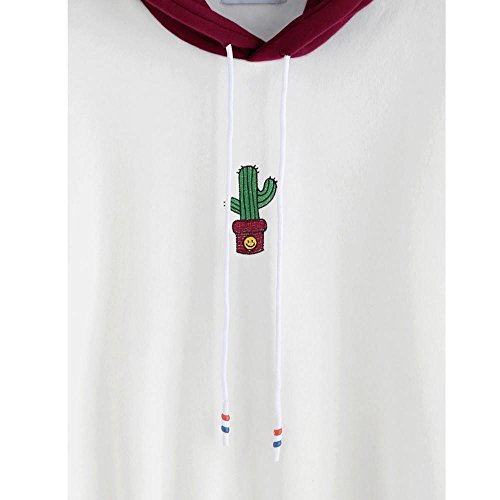 by Mujer Vino Sudadera Jersey Venmo Cactus con Tops Capucha Manga Estampado Blusa de de Larga Zxqr4w7RZ