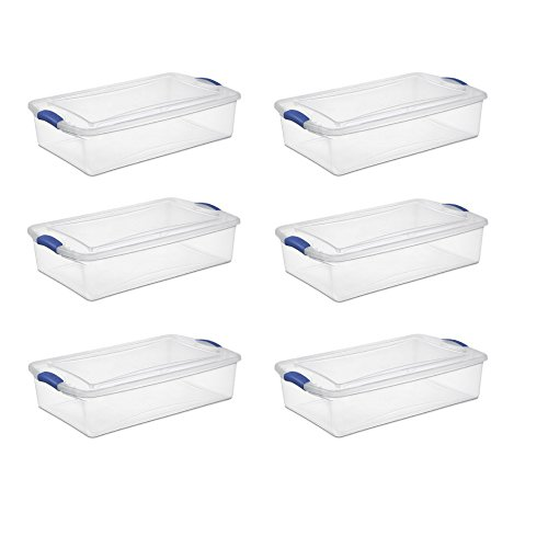 Sterilite 34 Qt./32 L Latch Box, Stadium Blue - 6 - Bh Stores Clothing