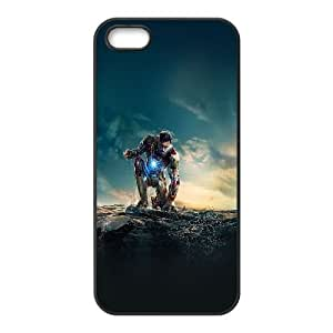 iPhone 5 5s Cell Phone Case Black ae67 ironman angry in hero poseture art P5C4OB