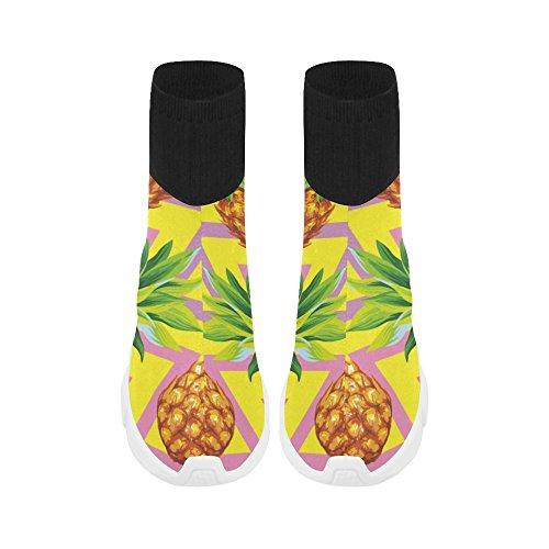 Leinterest Ananas Unicorn Stretch Chaussette Chaussures Pour Femmes