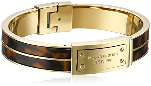 Michael Kors MKJ2247710 Lady\\\'s Logo Plaque Hinge Bangle Bracelet