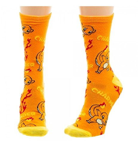 BIOWORLD-Pokemon-Charmander-Juniors-Cartoon-Crew-Socks