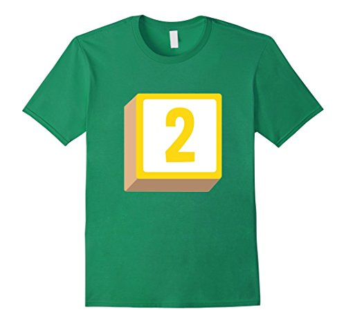 Mens 2 Two Alphabet Block Halloween Group Costume T-Shirt 3XL Kelly Green - 2 Minute Costume Ideas