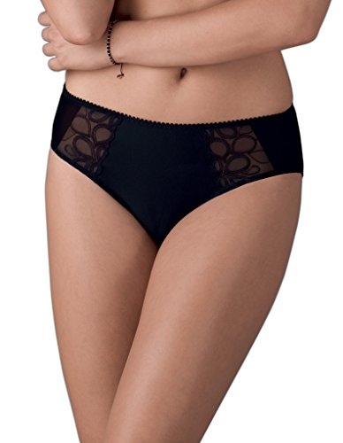 Anita Rosa Faia 1328-001 Lupina Black Full Panty Highwaist Brief 36 (12 US) ()