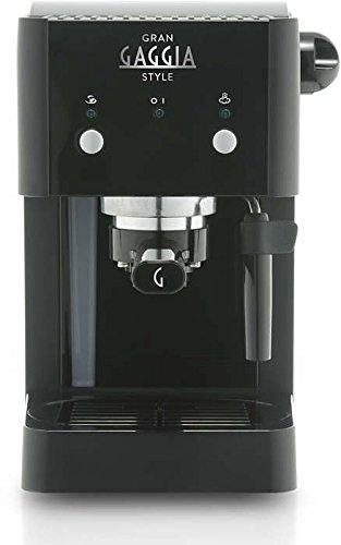 Gaggia GranGaggia Style Black Macchina Manuale per il Caffè Espresso, per Macinato e Cialde, 15 bar, Colore Nero, RI8423… 2