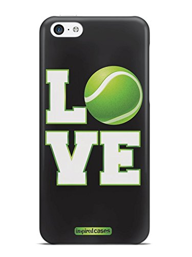 Inspired Cases 3D Textured LOVE Tennis Case for iPhone 5c (Tennis Cases For Iphone 5c)