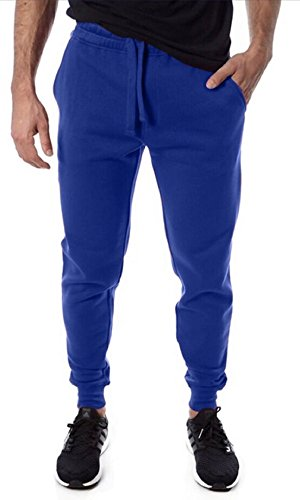 Vertical Sport Men's Fleece Jogger (Royal, Medium) (Thrill Athletic Fit Pant)