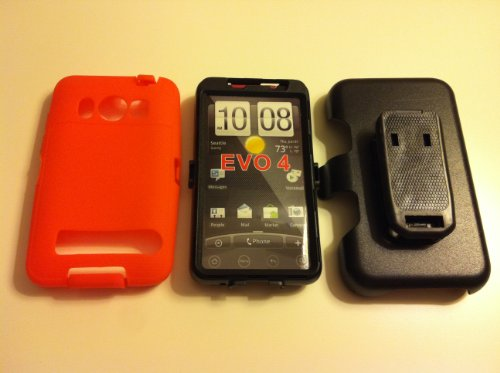 032884172047 - New Defender Case for Htc Evo 4g with Hip Holster That Doubles As a Media Stand Generic Otterbox Defender Series carousel main 0