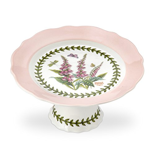 PORTMEIRION BOTANIC GARDEN TERRACE Scalloped edge footed cake plate small ()