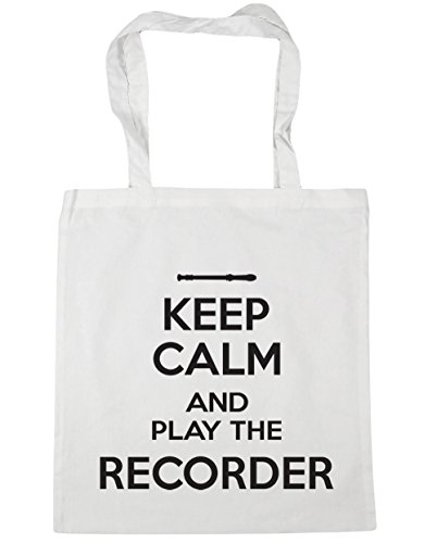 Beach x38cm Play Bag Gym White Keep HippoWarehouse litres Tote Calm Recorder 42cm Shopping 10 and the S4Czq7x