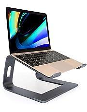 """Laptop standaard, Ergonomische Notebook Stand, Aluminium Verwijderbare Laptop Houder, Demonteerbare Ventilatie Houder, Riser voor MacBook ProAir, HP, Dell, Lenovo, Samsung, HUAWEI, alle 10 """"~ 17,3"""" Notebooks (grijs)"""