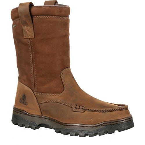 Rocky Mens Wellington (Rocky Outback Gore-TEX Waterproof Wellington Boot Brown)
