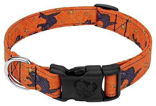 Country Brook Design Halloween Cat Designer Dog Collar-S