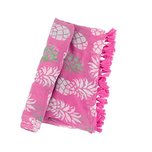 Pineapple Pink 70 x 43 inch Womens Polyester Scarf or Swim Suit Wrap Accessory