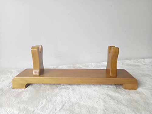 Wooden Display Rack Samurai Sword Katana Wakizashi Holder Stand (Camel colorDR-003, 38CM)