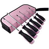 Pink Power Screwdriver Set with Pink Bag - 6 Piece Phillips & Flathead Set for Women