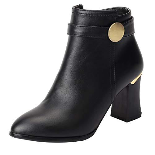 Mavirs Womens Mainfl Block Heel Ankle-high 7.5 B(M) cm Boots, Synthetic, 7.5 B(M) 7.5 US B07GLRCX4V Shoes b1fa12