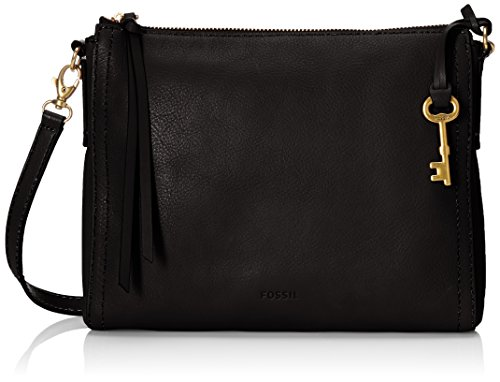 Fossil Emma E/W Crossbody,Black,One Size