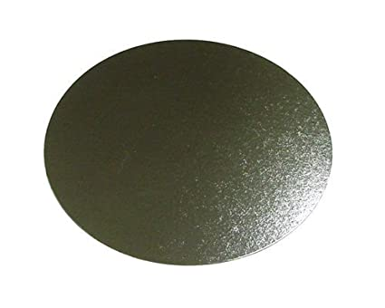 """16/"""" Inch Round Silver Cake Board Base 3mm DOUBLE THICK"""