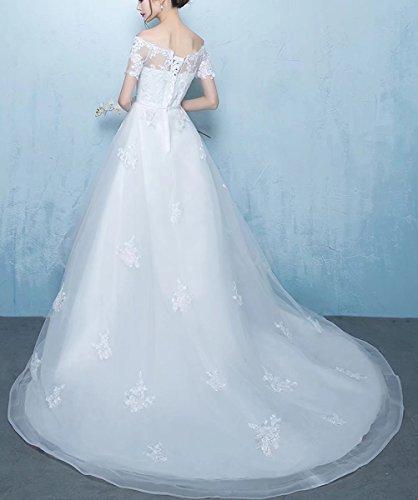 A Bianco Linea Maniche Senza Donna Rjoameudress Vestito Ad tvqRw4