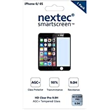 iPhone 6 Screen Protector, 3D (Full Coverage) Nextec® Corning® Tempered Glass Screen Protector for Apple iPhone 6 (HD Clear Pro + Blue Light UV Filter 9.0H) Corning® Gorilla Glass/ Black