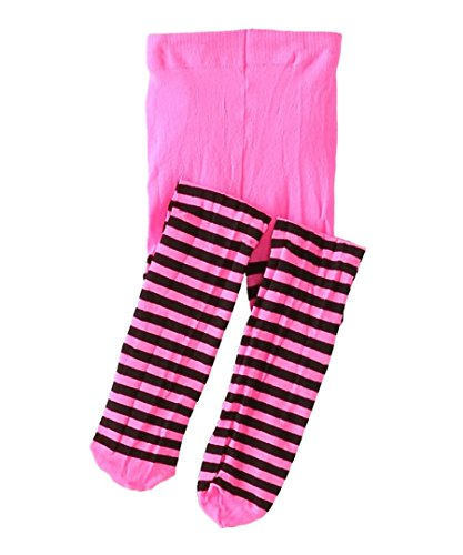 Jefferies Socks Stripe Tights (10-14 years, Hot