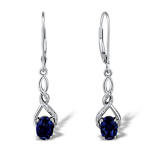 lab-created-blue-sapphire-dangle-earrings-diamond-accents-in-rhodium-plated-sterling-silver