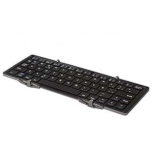 SilverHT Origami Portable Keyboard Bluetooth QWERTY Español Negro, Plata teclado para móvil: Amazon.es: Electrónica