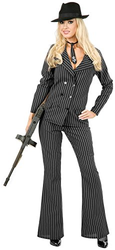 Gangster Moll Women's Costume - Extra Large, Black/White ()