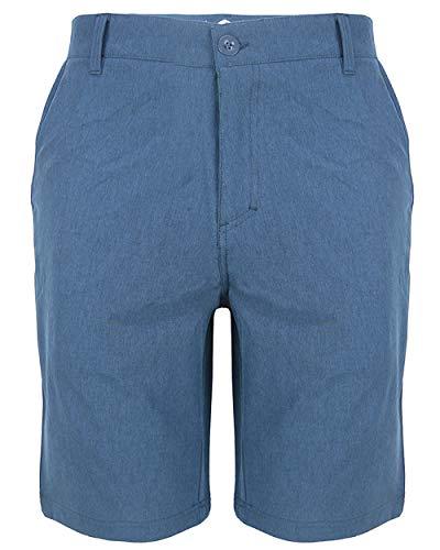 Evrimas Men's Amphibian Hybrid Shorts Chino Golf Athletic Casual Quick Dry 21'' Solid Walk Boardshort Khaki Black (Navy, 38)