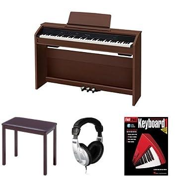 amazon com casio px860 brown privia digital home piano bundle with rh amazon com Casio Privia Casio Ctk 541