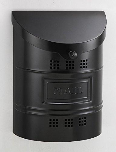 Ecco E2 Mailbox - E2BK Large Satin Black Wall Mailbox by ECCO