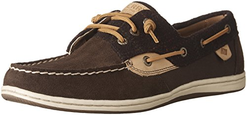 Womens Brown Wool - SPERRY Women's Songfish Suede Wool Dark Brown/Brown Loafer