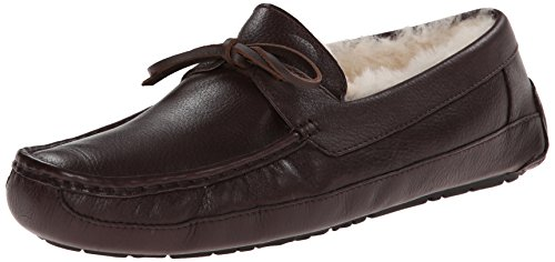 12dd43d4993 UGG Men's Byron Moccasin Slippers, Chocolate Leather, Size 12 D(M ...