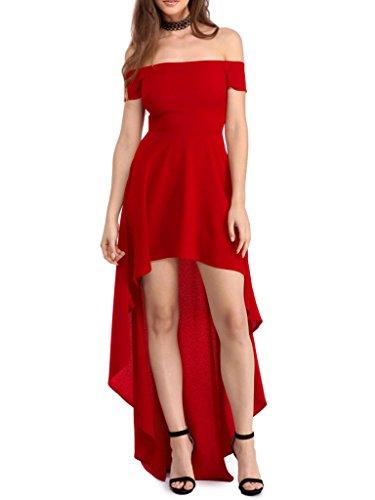 Sidefeel Women Shoulder Party Dresses