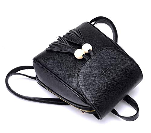 Daypack Bag Rucksack Fashion School Tassels Backpack Girls Teen for Retro Pu Women Purse Grey Leather wAA0YqFx