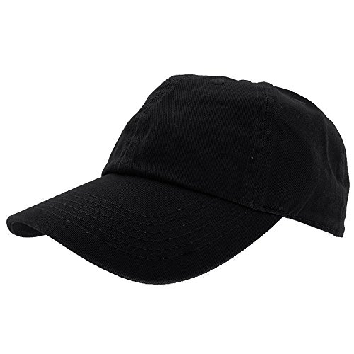 Falari+Baseball+Cap+Hat+100%25+Cotton+Adjustable+Size+%28Black.%29