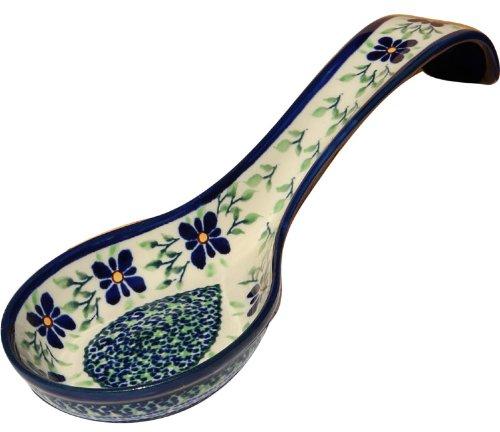 Polish Pottery Spoon Rest From Zaklady Ceramiczne Boleslawiec #1178-du121 Unikat Pattern, 12 Inch Long by Polish Pottery Market