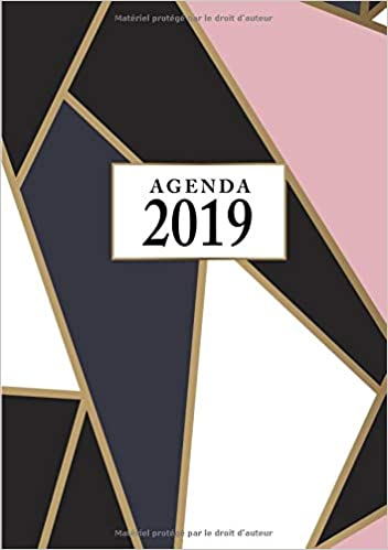 Agenda: Semainier - Petit Format A5 - Rose Noir Or ...
