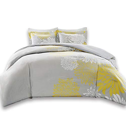 Comfort Spaces Duvet Cover Full/Queen Size - Enya Yellow and