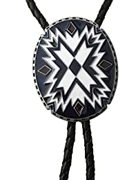 Pancy Southwest Vintage Style Totem Pattern Metal Bolo Tie Necktie