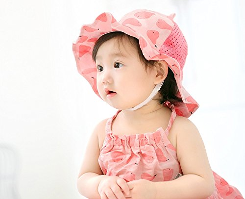 GZMM Baby Girls Sun Protection Hat Cotton Breathable Material UPF50+(6-12M) by GZMM (Image #4)